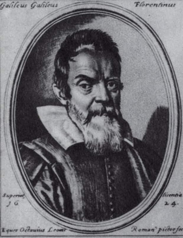 Галилео Галилей. Гравюра О. Леони, 1624 г.