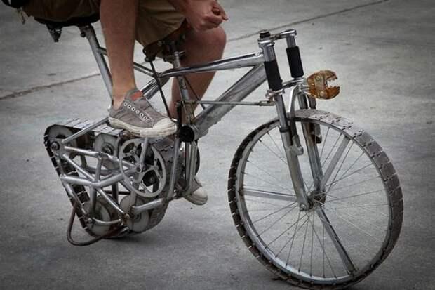 Гусеничный велосипед.
