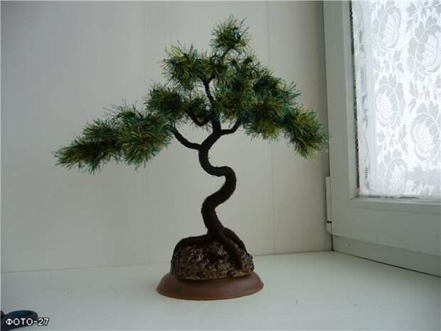 Мои деревья из пряжи «травка» *