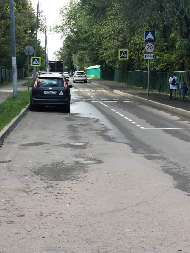 На Новгородской нанесли новую разметку для парковки