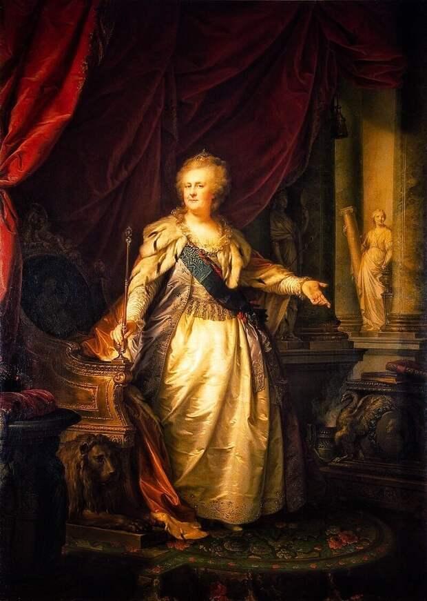 Екатерина  II (художник Лампи Иоганн Баптист)
