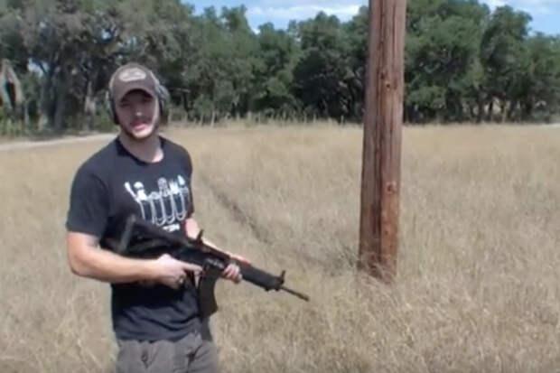 как свалить телеграфный столб с помощью винтовки