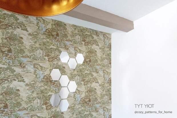 Зеркальный декор стены (Diy)