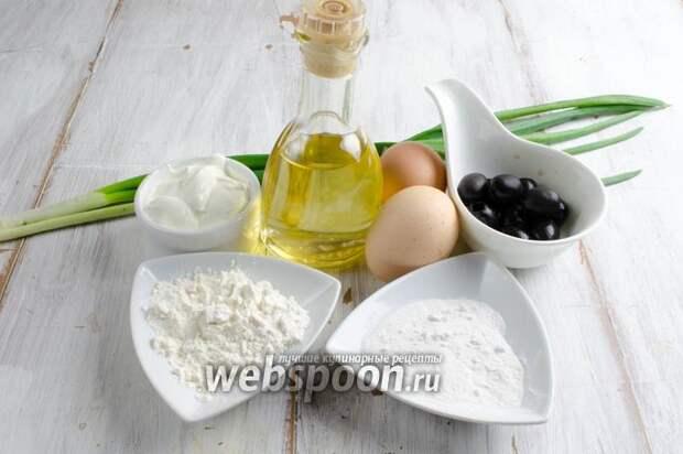 Омлет с маслинами в духовке