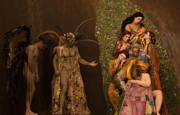 Модели воссоздали картины Густава Климта
