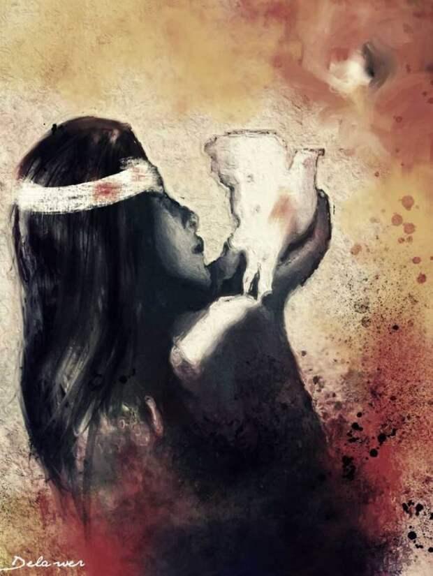 Эмоциональные картины маслом от Delawr Omar
