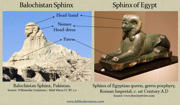 Белуджский сфинкс во многом напоминает египетского сфинкса