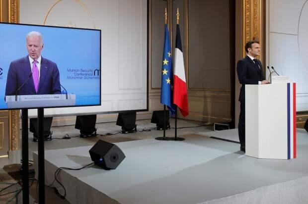Макрон выступает на Мюнхенской конференции по безопасности.jpg