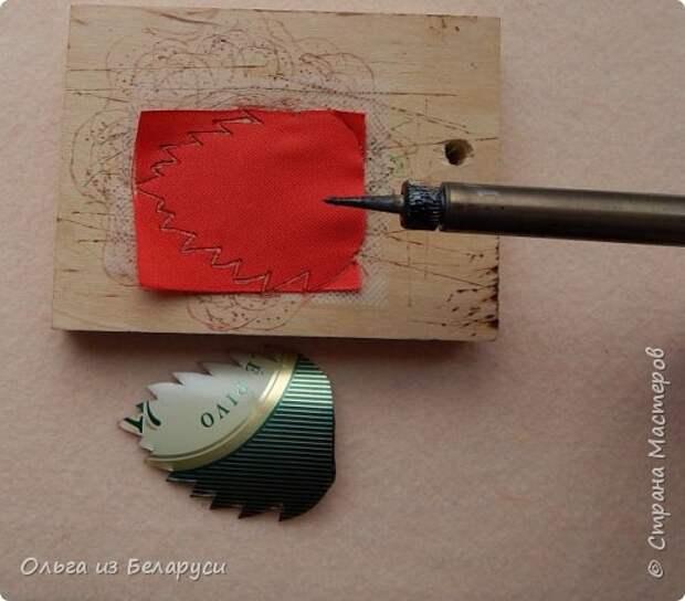 Мастер-класс Флористика искусственная Моделирование конструирование МК листка розы из фатина+роза из фатина Ленты фото 6