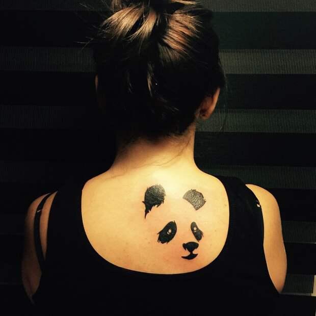 Минималистичные татуировки одним цветом