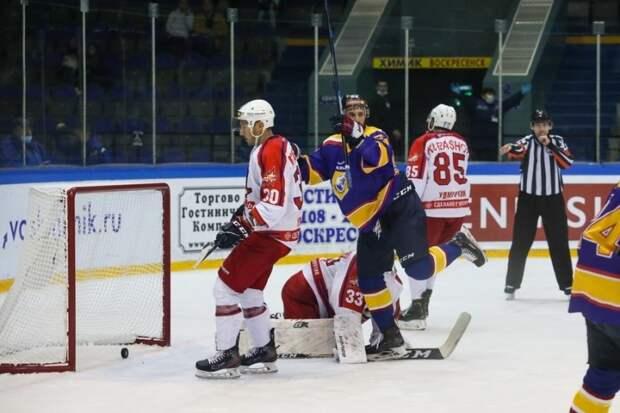 Хоккеисты «Ижстали» проиграли всухую на выезде подмосковному «Химику»