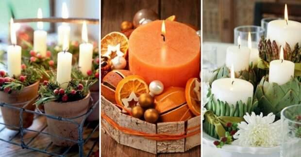 Композиции со свечами: 12 идей для зимнего декора