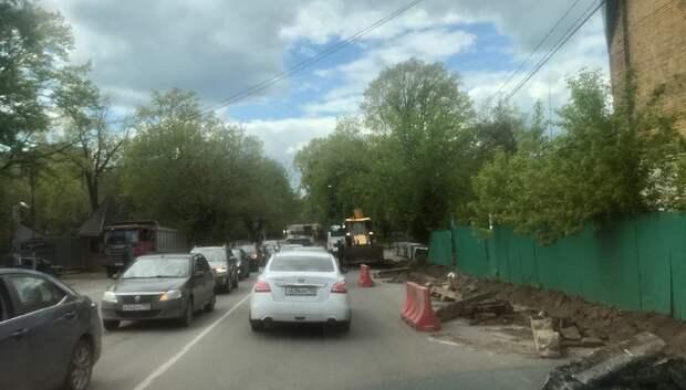 Ремонт автодорог начался на двух улицах микрорайона Подольска