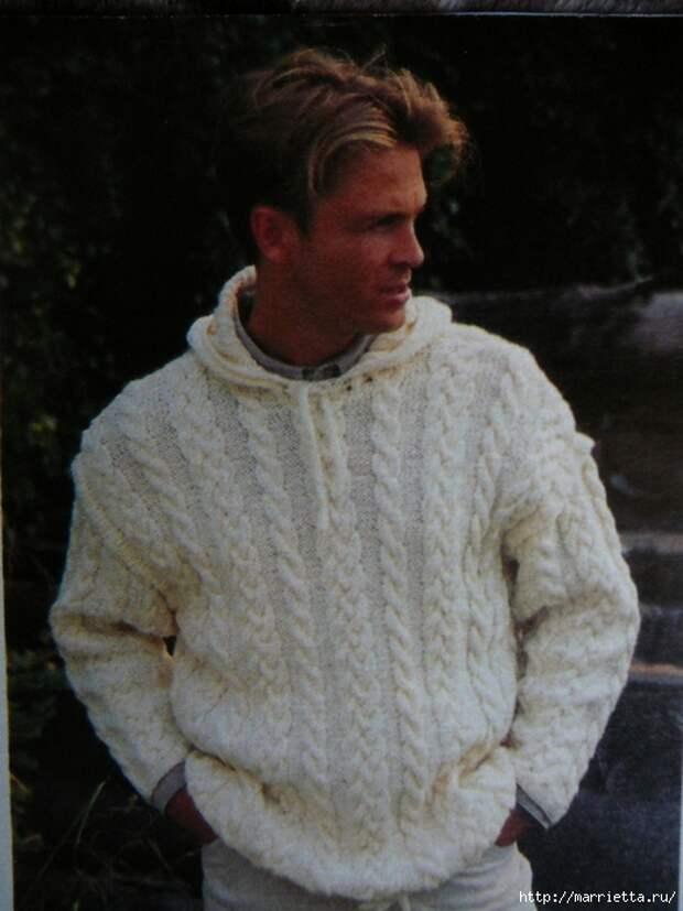 Два вязаных спицами мужских пуловера (2) (524x699, 245Kb)