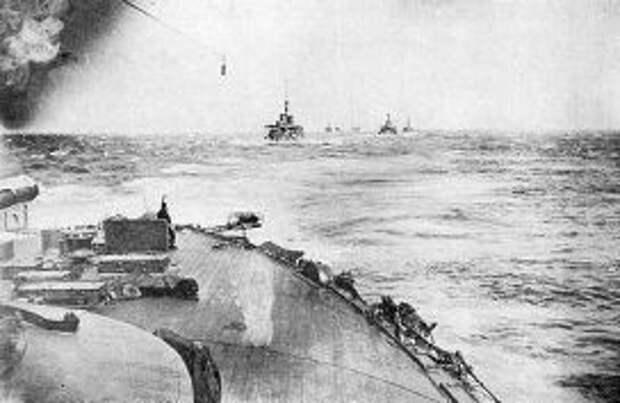 Японский флот направляется в сторону кораблйей Балтийского флота