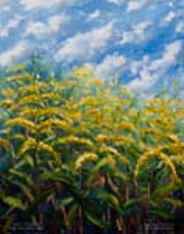 8 теплых цветочных картин маслом и мастихином + 2 БОНУСА