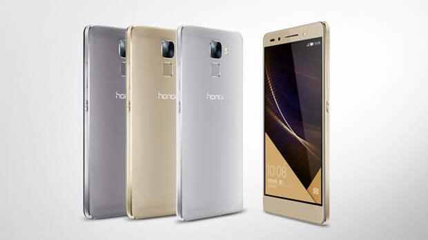Huawei анонсировала смартфон Honor 7 с 20Мп камерой
