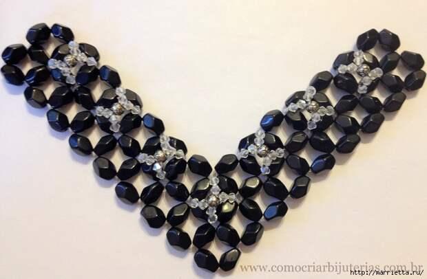 стильное ожерелье из бисера и кристаллов. мастер-класс (16) (700x458, 231Kb)