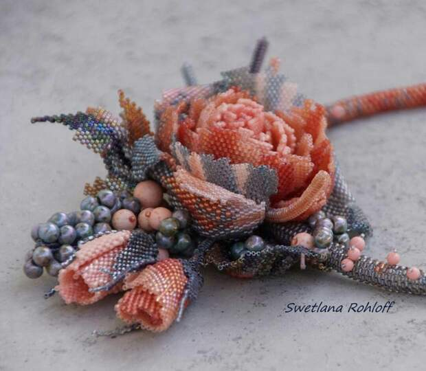Бисерные цветы Swetlana Rohloff