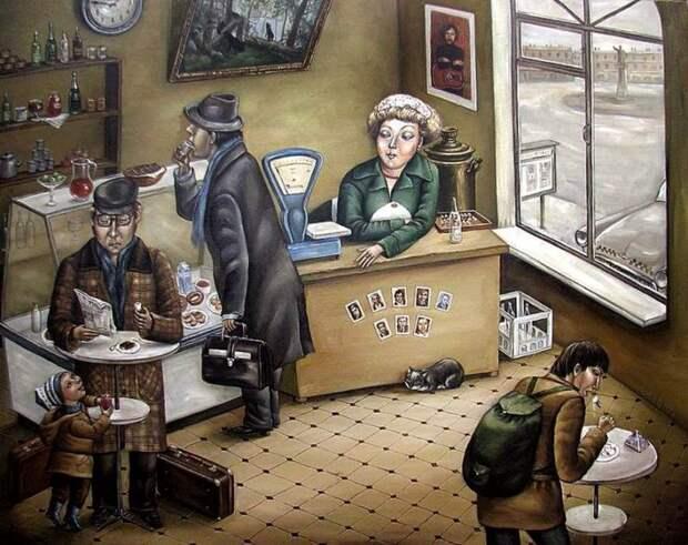 AngelaJerich17 Путешествие в СССР: картины художницы Анжелы Джерих