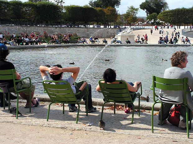 18. Парк Тюильри в Париже момент, фотография