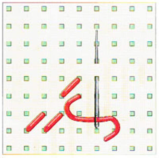 Вышивка крестиком по диагонали. Двойная диагональ слева направо (фото 4)