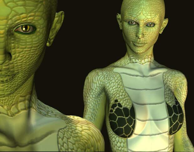 Рептилоиды, земля, чинканас, ящер, змея, ufospace.net