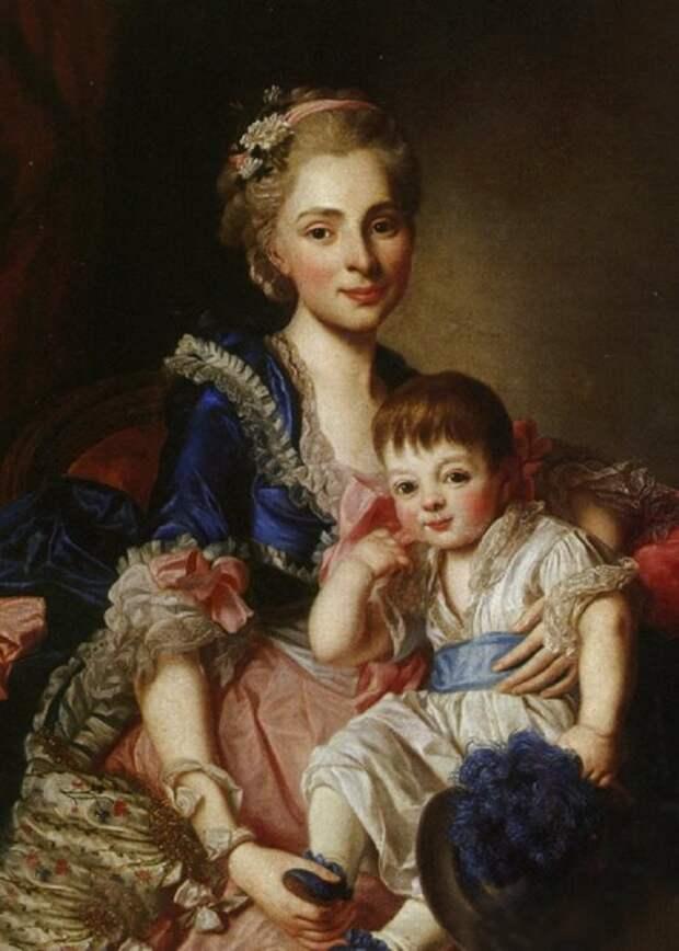 Голицына с сыном Петром, 1767