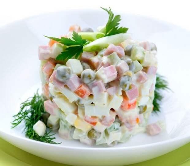 Салат «Оливье» еда, история, ссср