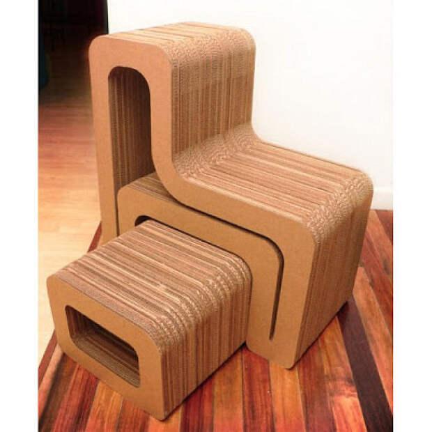 Мастерим мебель из картона — только реализованные проекты!