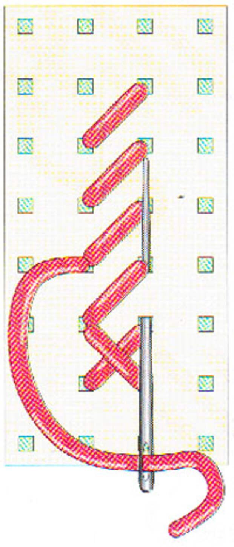 Вышивание крестиком по вертикали. Движение вперед (фото 6)
