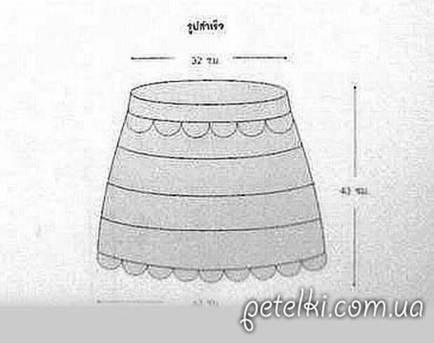 Интересная мини-юбочка крючком