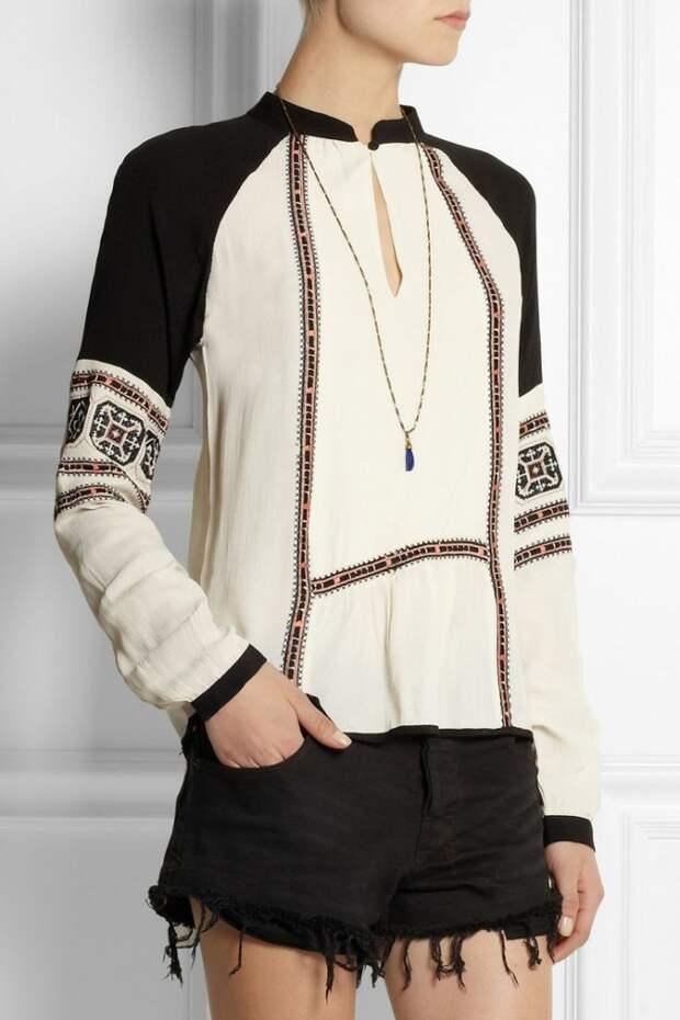 модные блузки Блузки с вышивкой