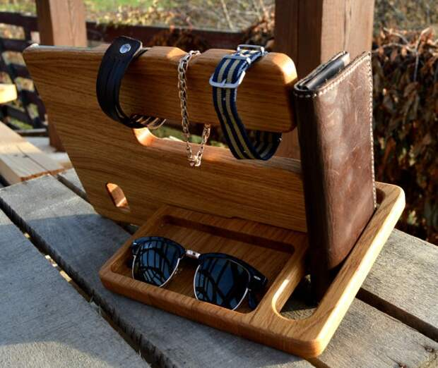 Деревянные органайзеры для гаджетов (трафик)