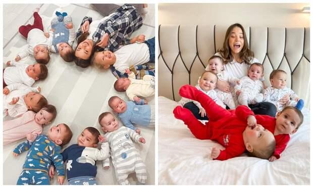 23-летняя россиянка за год стала матерью десяти малышей, и все они—ее биологические дети