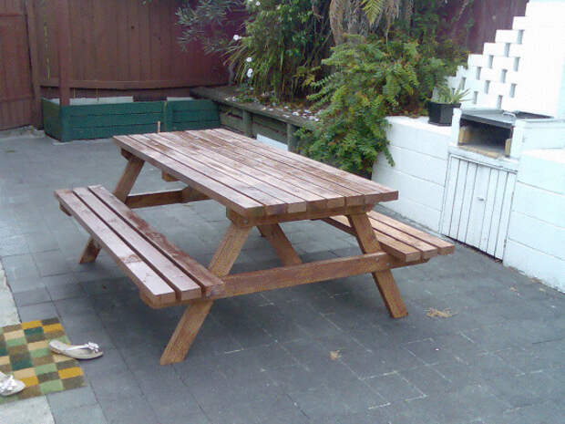 проект стола для пикника