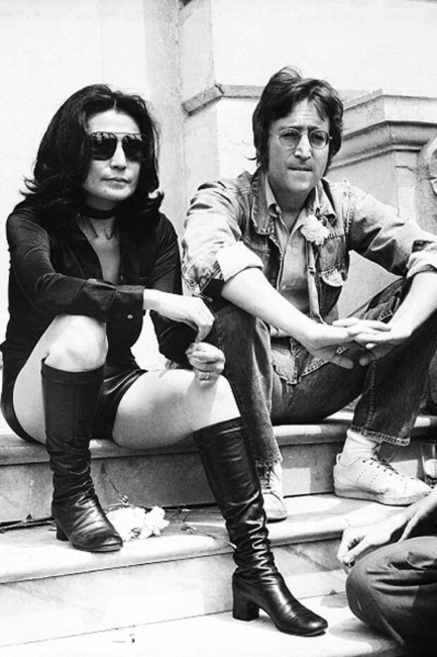 Йоко Оно и Джон Леннон (1970)