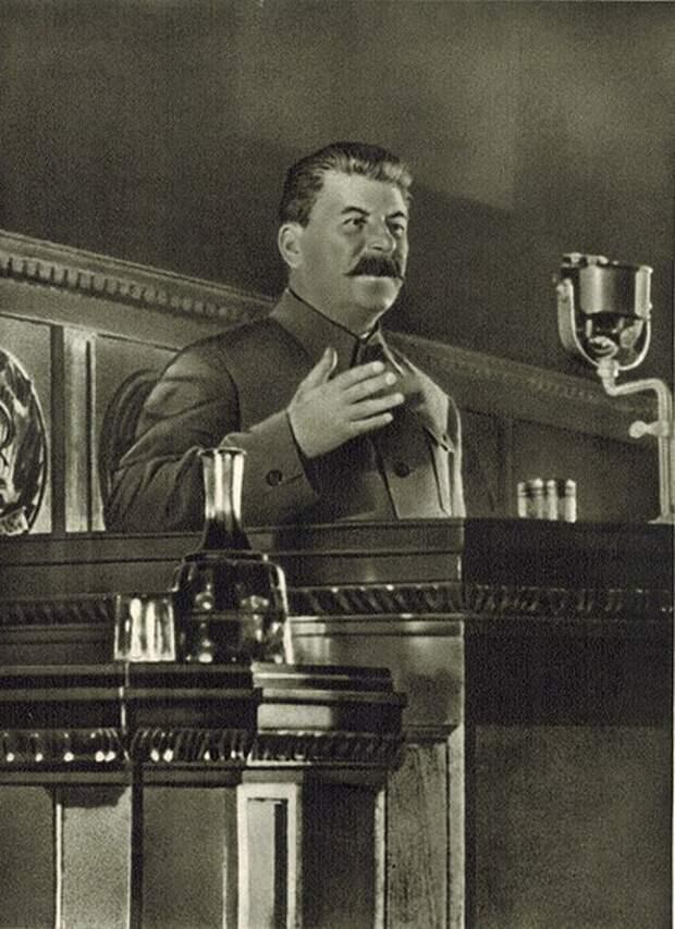 Речь товарища Сталина о либеральной власти. Кинохроника.
