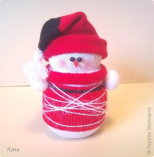 Мастер-класс Поделка изделие Новый год Шитьё И снова снеговики из носков + мои дополнения Носки фото 13