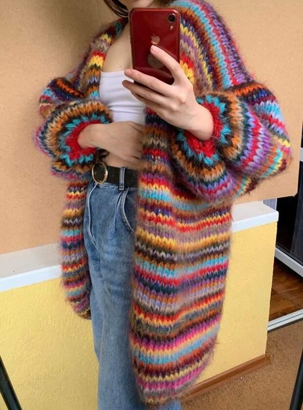 Любимая вещь в осеннем гардеробе. 15 стильных вязаных кардиганов