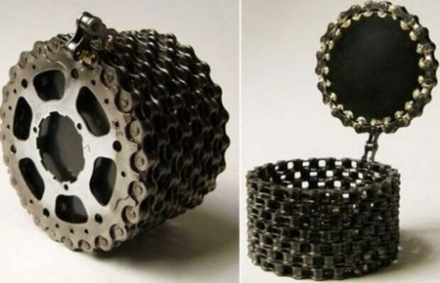 Украшения из велосипедной цепи