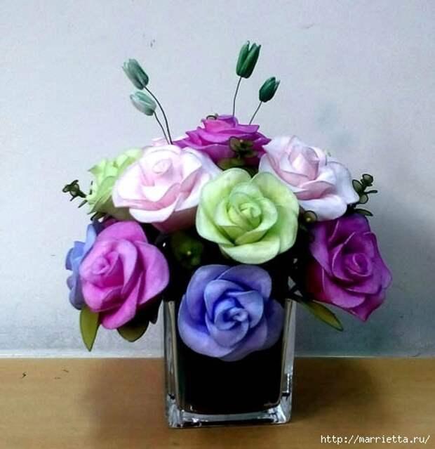 Розы из капрона. Красивые идеи и мастер-класс (35) (478x493, 107Kb)