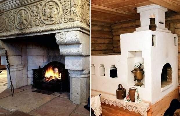 Почему в замках и дворцах Европы использовали камины, а не старые-добрые печи