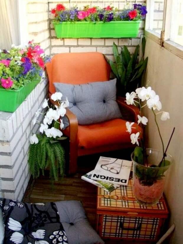 Если в вашем доме завалялось ненужное кресло, на балконе ему самое место дизайн, креатив, своими руками
