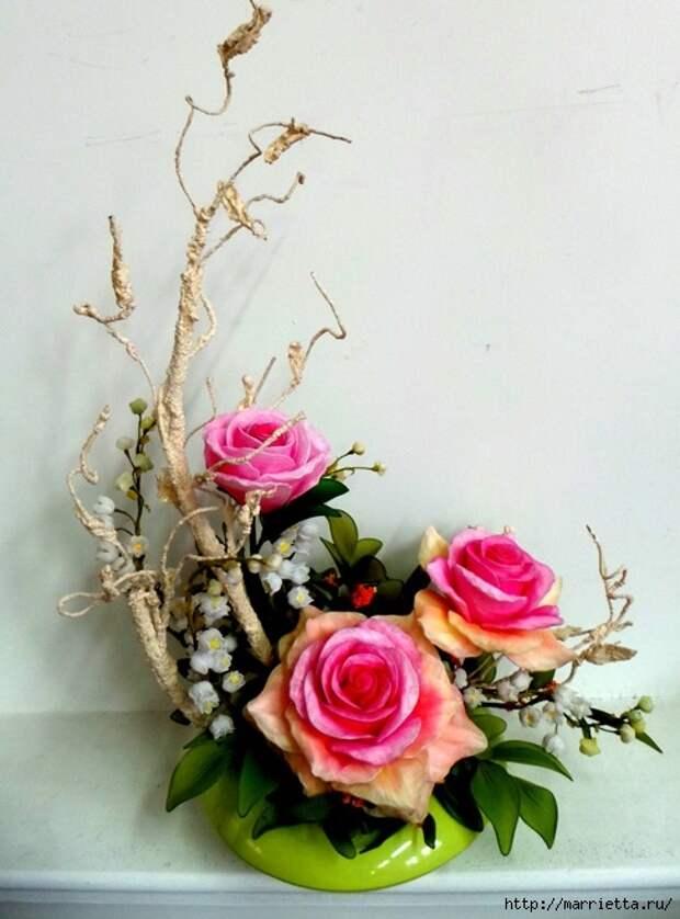 Розы из капрона. Красивые идеи и мастер-класс