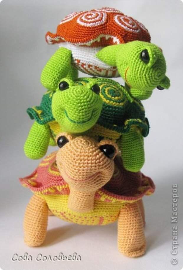 Игрушка Мастер-класс Вязание крючком изготовление Черепашки Пряжа фото 1