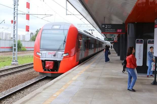Пригородные поезда от «Трикотажной» будут ходить в праздники по изменённому графику