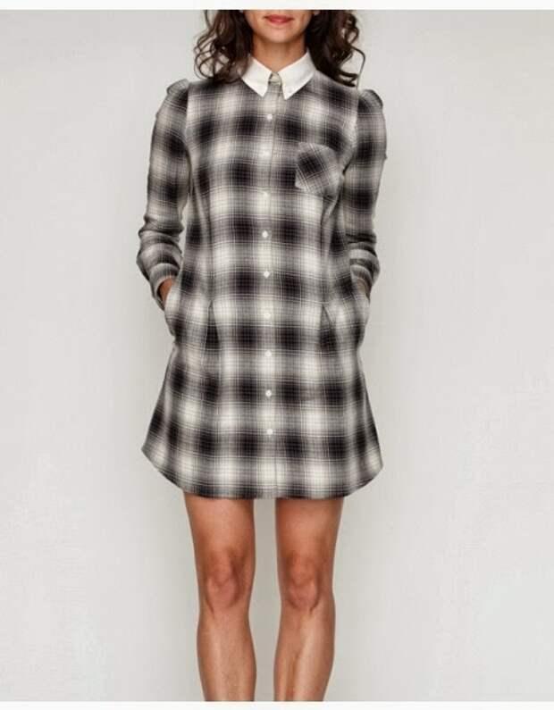 Переделка рубашки в платье (Diy)