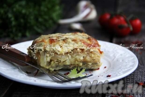 Треска со сметаной и сыром в духовке