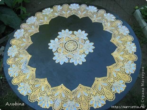 Декорирование круглого столика виниловыми салфетками (4) (520x390, 176Kb)